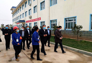 Secretaryof CPCHebiMunicipalCommittee MA Fuguo visited Yuanhao chemicals to inspect the works for production safety